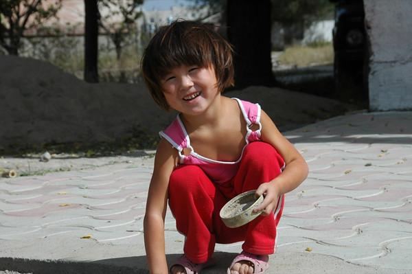 Little Kyrgyz Girl - Karakol, Kyrgyzstan