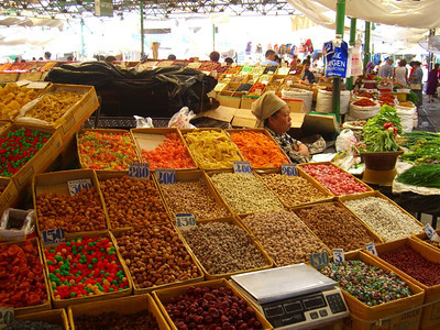 Sweets and Nuts at Osh Bazaar - Bishkek, Kyrgyzstan