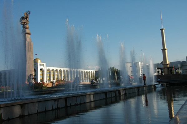 Fountains at State Museum - Bishkek, Kyrgyzstan