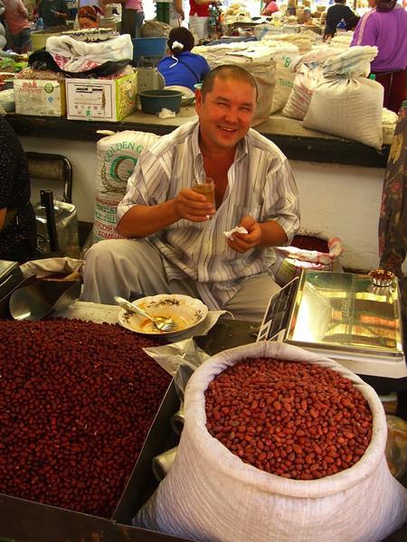 Nut Vendor at Osh Bazaar - Bishkek, Kyrgyzstan