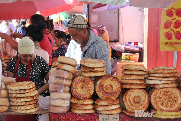 Locals selling bread
