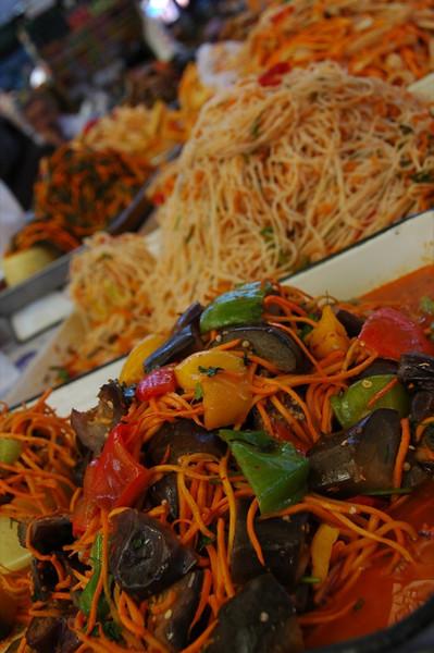 Pickled Vegetables, Osh Bazaar - Bishkek, Kyrgyzstan