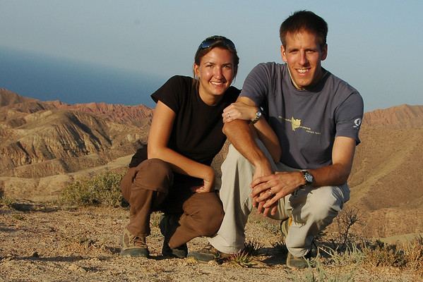 Audrey and Dan at Lake Issyk-Kul, Kyrgyzstan