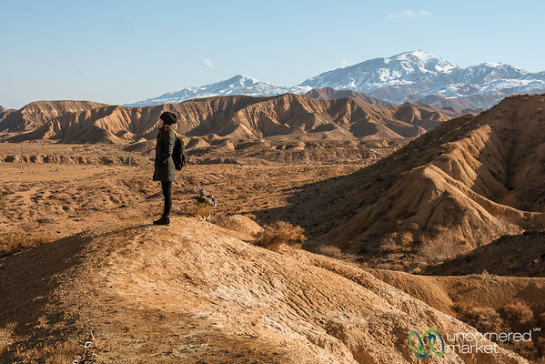 Red Rocks and Mountains - Manjyly-Ata, Kyrgyzstan