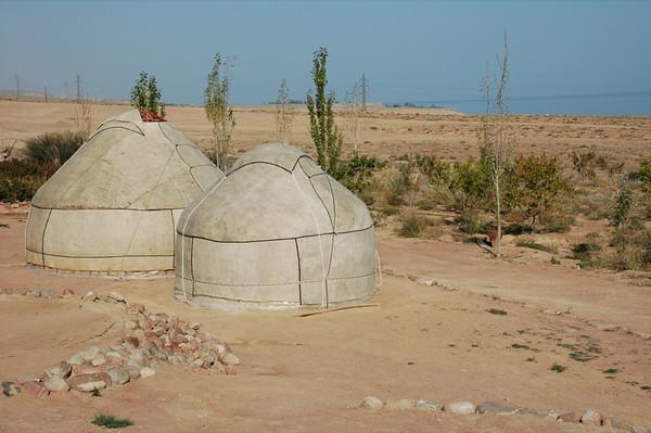 Yurts at Lake Issyk-Kul - Manzhyly, Kyrgyzstan