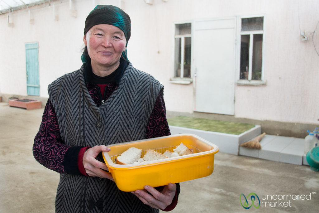 Bread as Sign of Hospitality - Southern Shore of Issyk-Kul, Kyrgyzstan