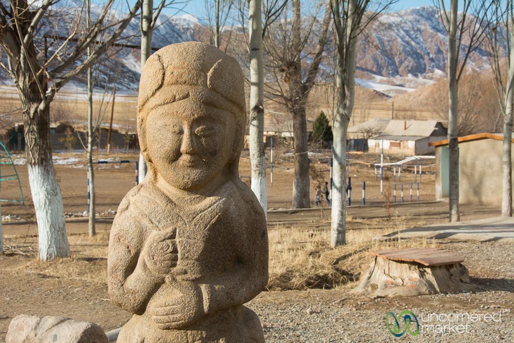 Balbal, Ancient Kyrgyz Tomb Statue - Tuura-Suu Village, Southern Shore - Kyrgyzstan