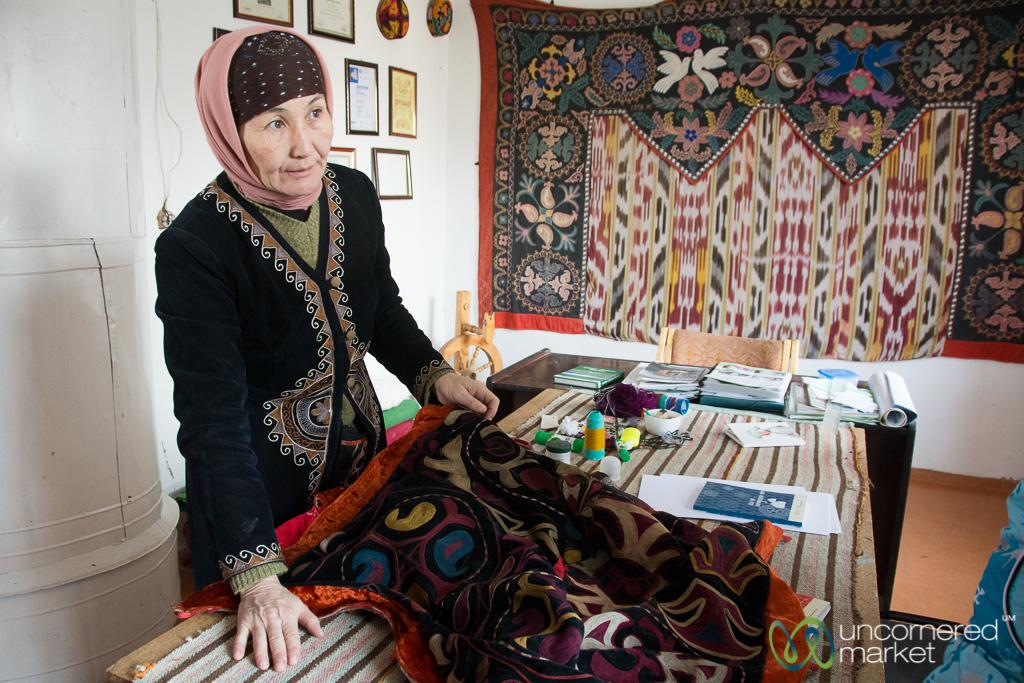 Kyrgyz Handicrafts at Golden Thimble - Bakonbaevo, Kyrgyzstan