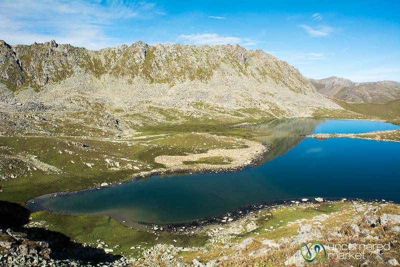 Looking Over Alpine Lake, Jyrgalan Trek - Kyrgyzstan