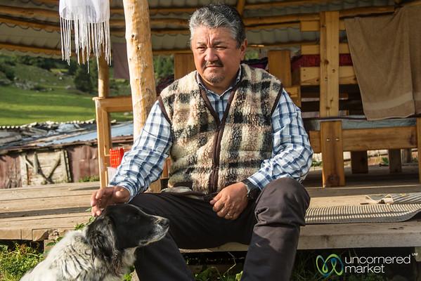 Emile with this Dog - Jyrgalan, Kyrgyzstan