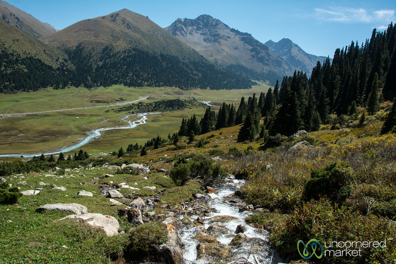 Looking Down on Jyrgalan River - Kyrgyzstan