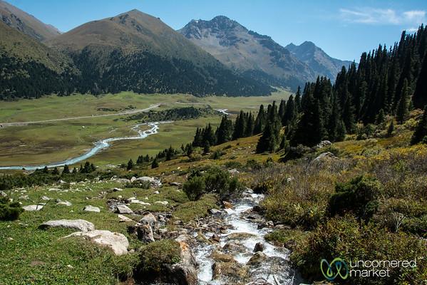 Looking Down on Jyrgalan River - Kyrgyzstan