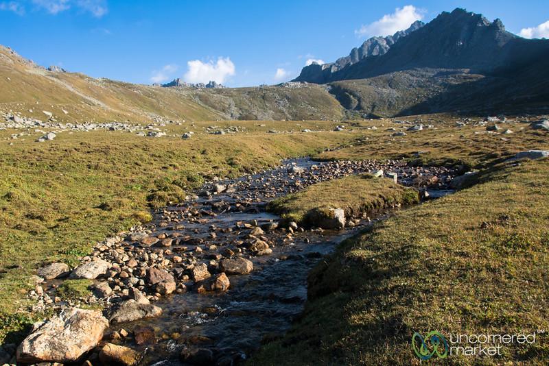 Campsite on Day 2 - Jyrgalan Trek, Kyrgyzstan