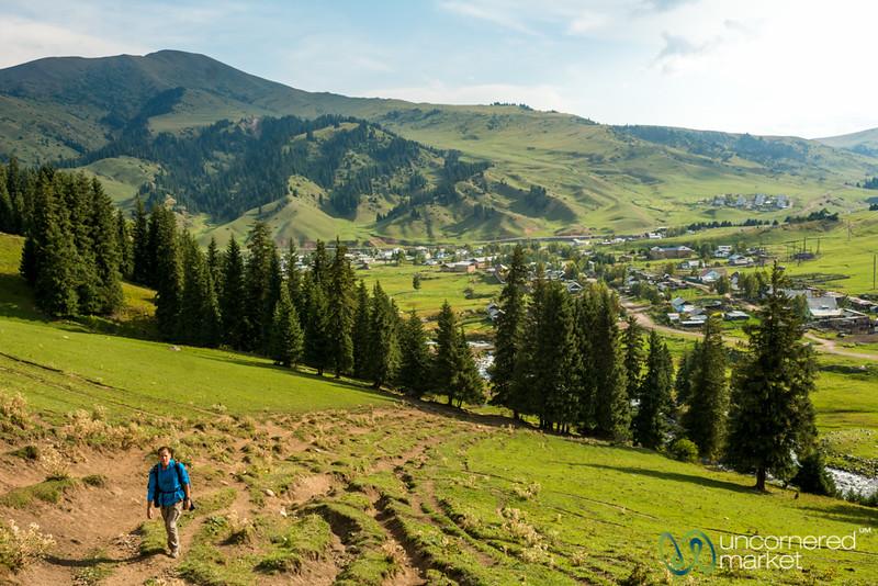 Walking into Mountains from Jyrgalan Village - Kyrgyzstan