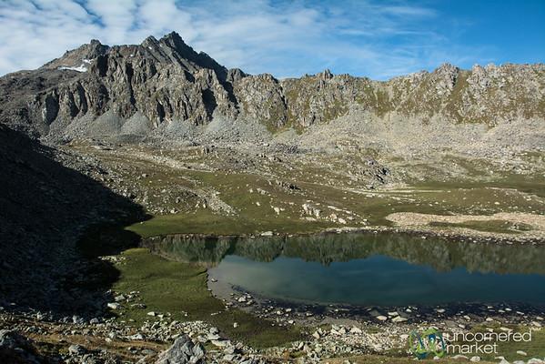 Alping Lake, Morning Light - Jyrgalan Trek, Kyrgyzstan
