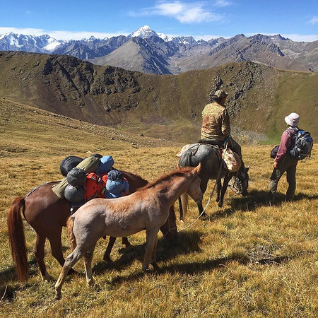 Jyrgalan Trek, Crossing the Mountain Pass - Kyrgyzstan