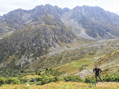 Audrey on her Way Up to Alpine Lakes - Jyrgalan Trek, Kyrgyzstan