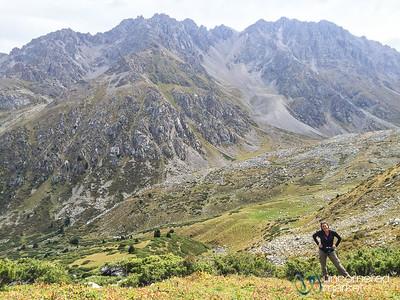 Audrey on her Way Up to Alpine Lakes - Jyrgalan Trek, Kyrgyzstan