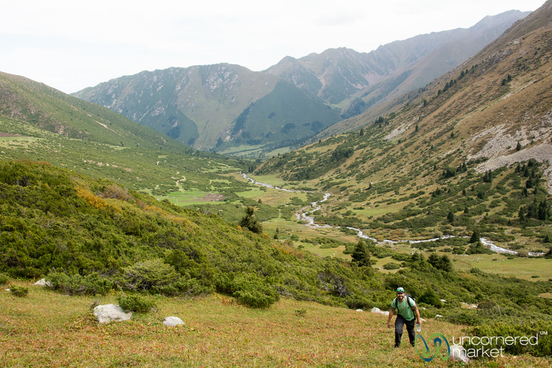 Trekking Up to an Alpine Lake - Jyrgalan Trek, Kyrgyzstan