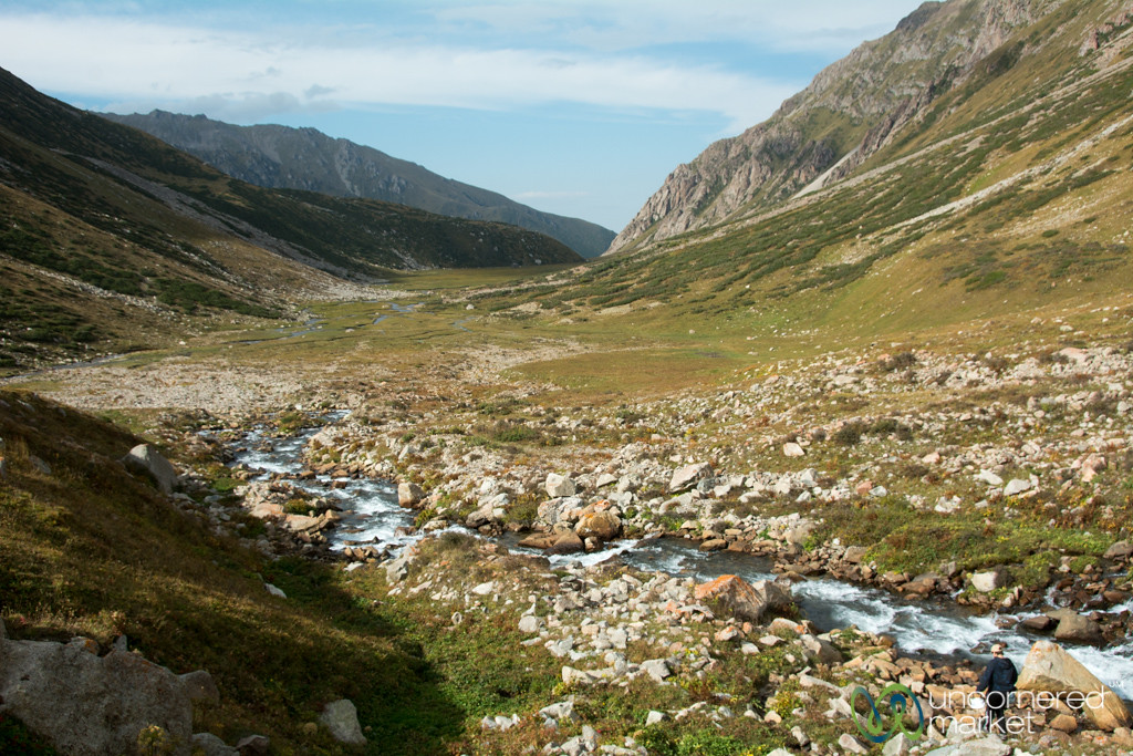 Collecting Water, First Campsite - Jyrgalan Trek, Kyrgyzstan