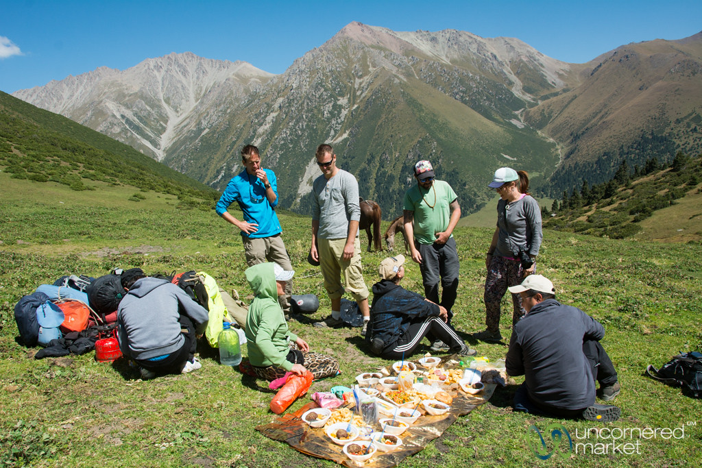 Lunchtime in the Mountains - Jyrgalan Trek, Kyrgyzstan