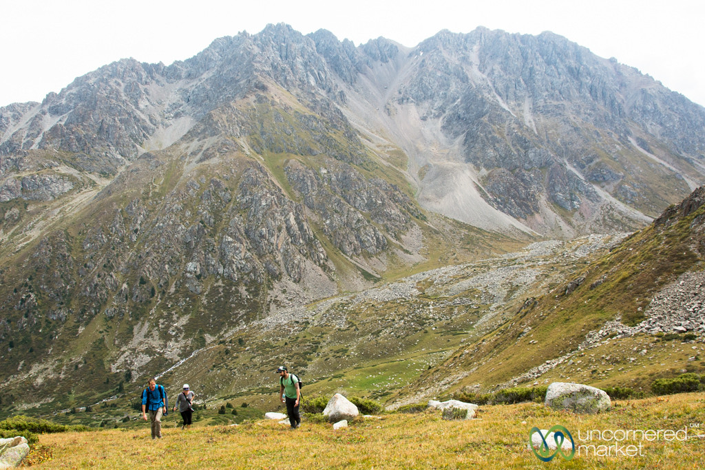 Steep Climb to Alpine Lake - Jyrgalan Trek, Kyrgyzstan