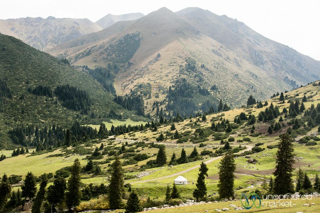 Yurt in the Tian Shan Mountians - Jyrgalan Trek, Kyrgyzstan