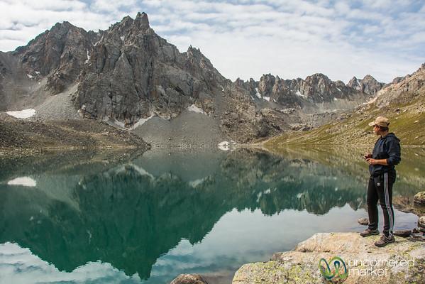 Alpine Lake, Morning Light - Jyrgalan Trek, Kyrgyzstan