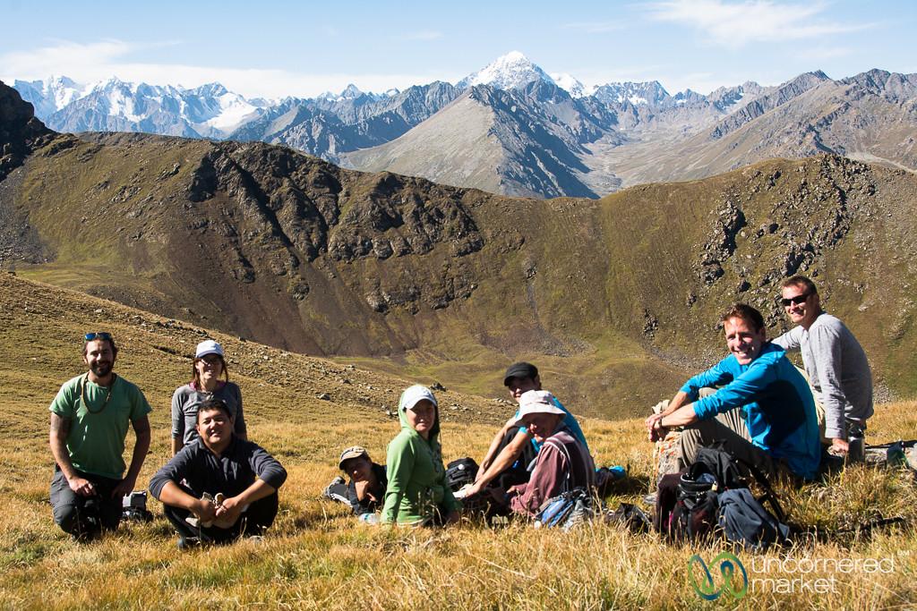 Snack Break at Terim Tor Bulak Pass - Jyrgalan Trek, Kyrgyzstan