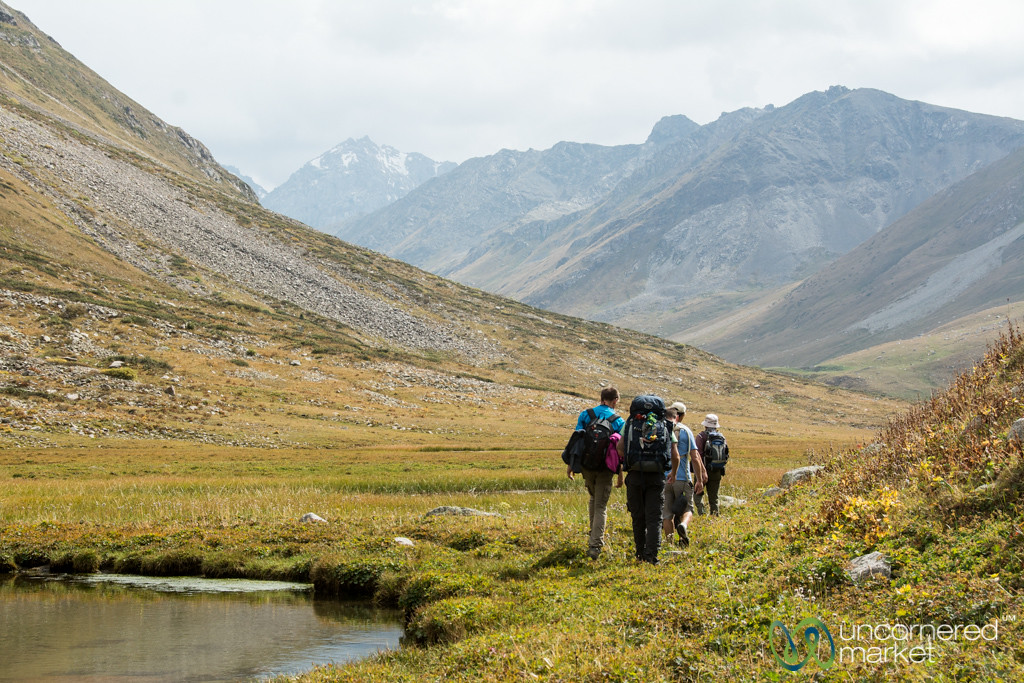 End of the First Day of Jyrgalan Trek, Kyrgyzstan