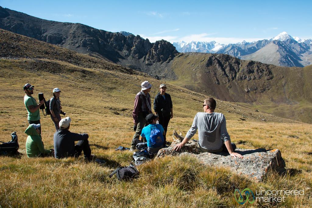 Terim Tor Bulak Pass, Enjoying the View - Jyrgalan Trek, Kyrgyzstan