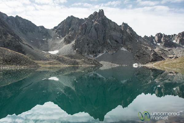 Reflections on Alpine Lake - Jyrgalan Trek, Kyrgyzstan