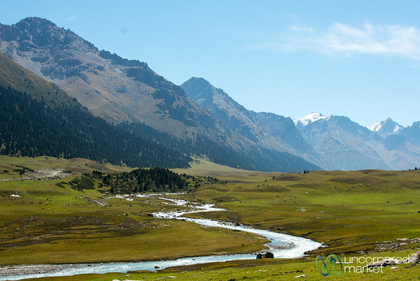 Jyrgalan River in the Tian Shan Mountains - Kyrgyzstan
