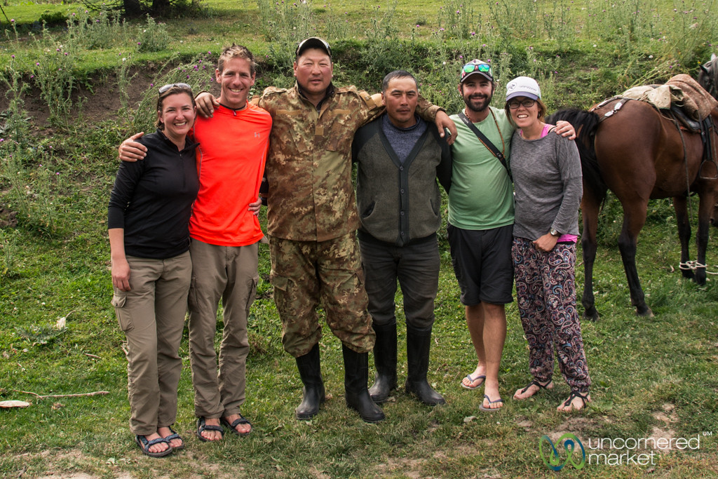 Our Trekking Group with the Horsemen - Jyrgalan Trek, Kyrgyzstan