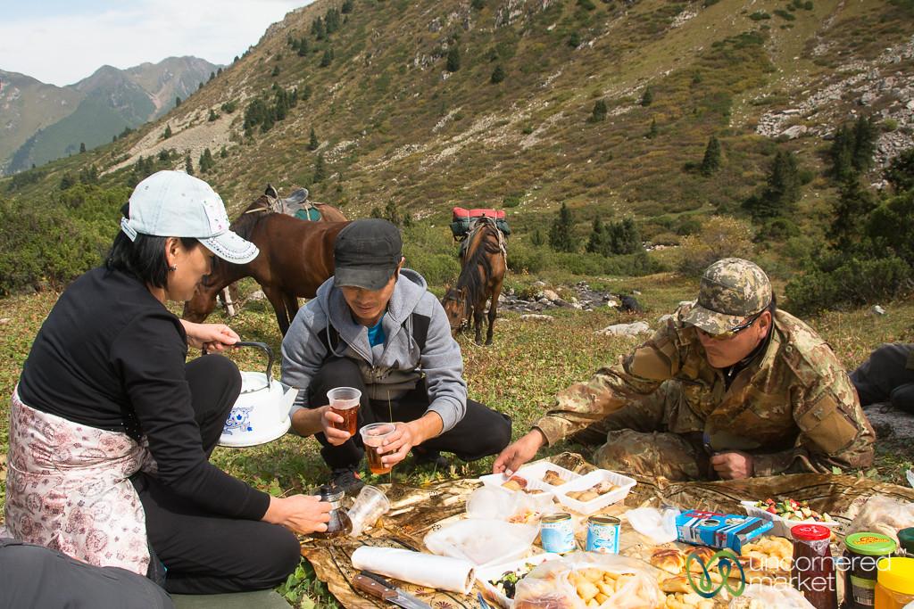 Lunch in the Mountains - Jyrgalan Trek, Kyrgyzstan