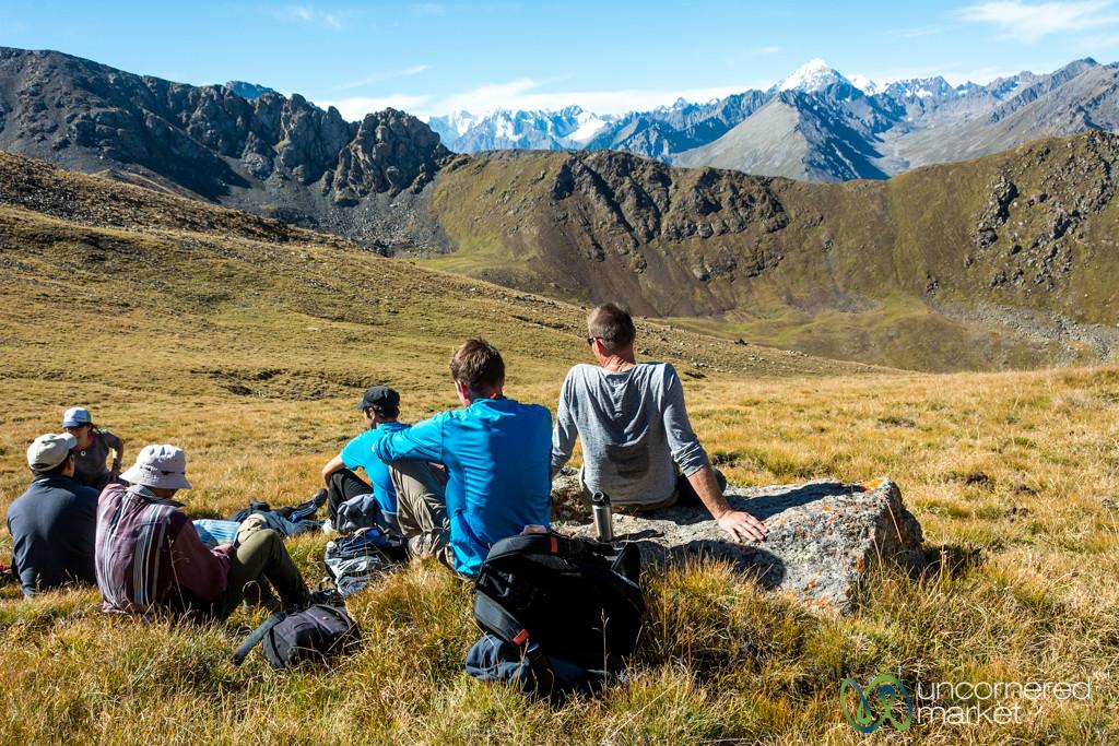 Enjoying the View, Terim Tor Bulak Pass - Jyrgalan Trek, Kyrgyzstan