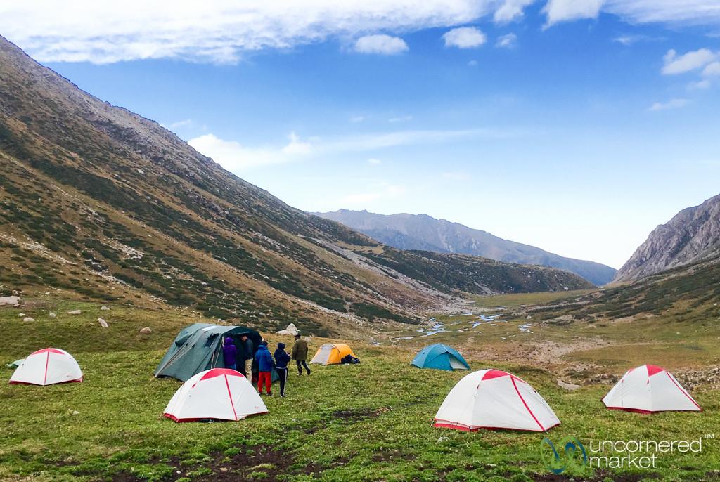 Camping, Day 1 of Jyrgalan Trek - Kyrgyzstan