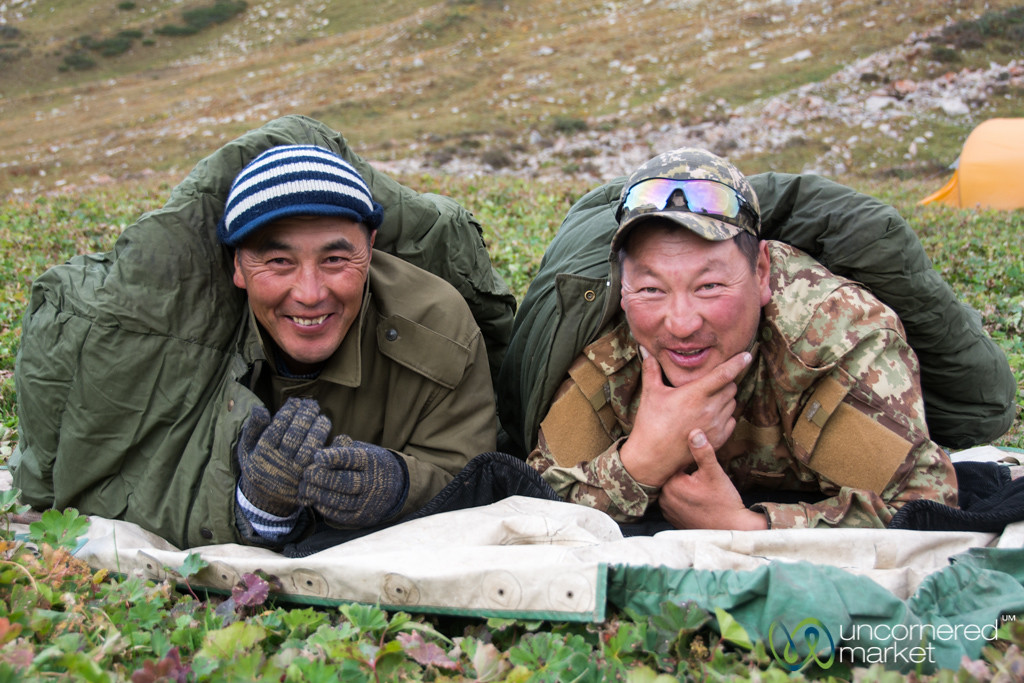 Staying Warm as Day Ends -Jyrgalan Trek, Kyrgyzstan