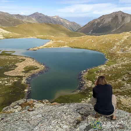Audrey Photographing Alpine Lakes - Jyrgalan Trek, Kyrgyzstan