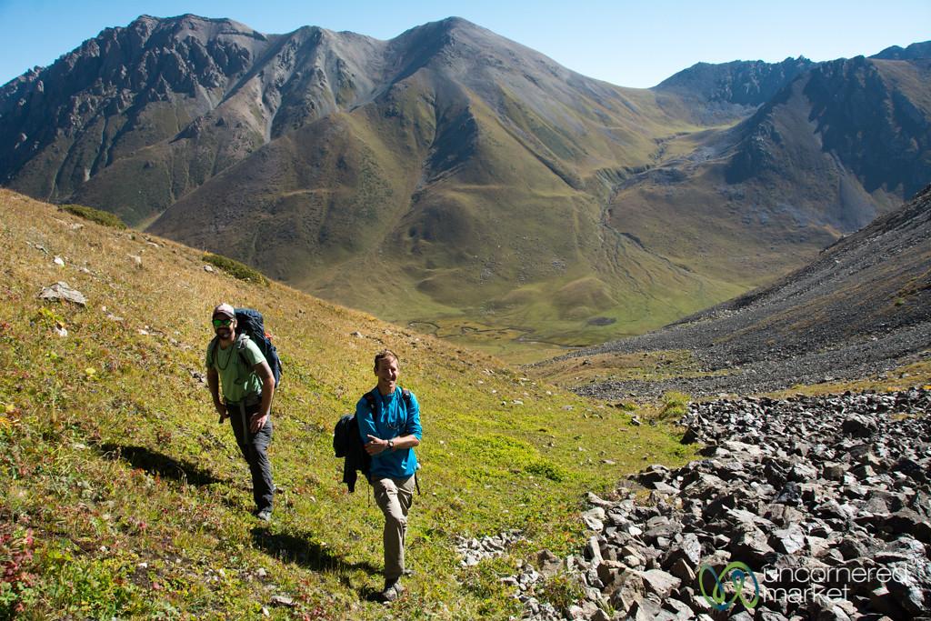 Climbing up to Terim Tor Bulak Pass - Jygalan Trek, Kyrgyzstan