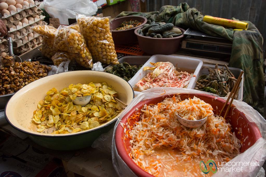 Dungan and Korean Salads at the Karakol's Markets - Kyrgyzstan