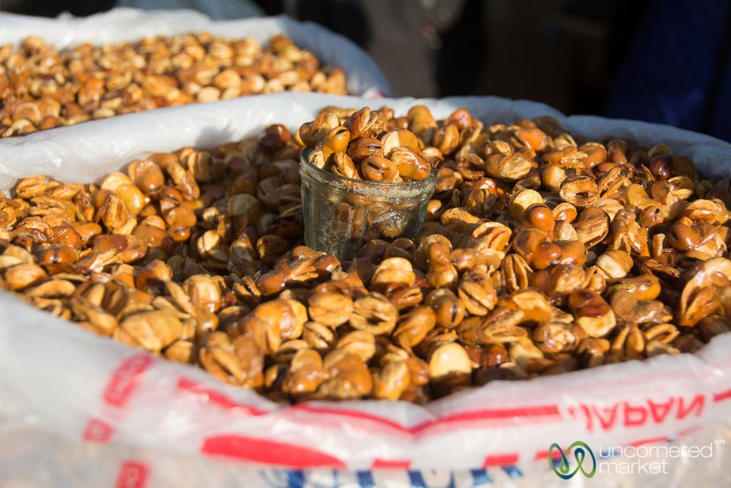 Fried Fava Beans - Karakol Big Bazaar, Kyrgyzstan
