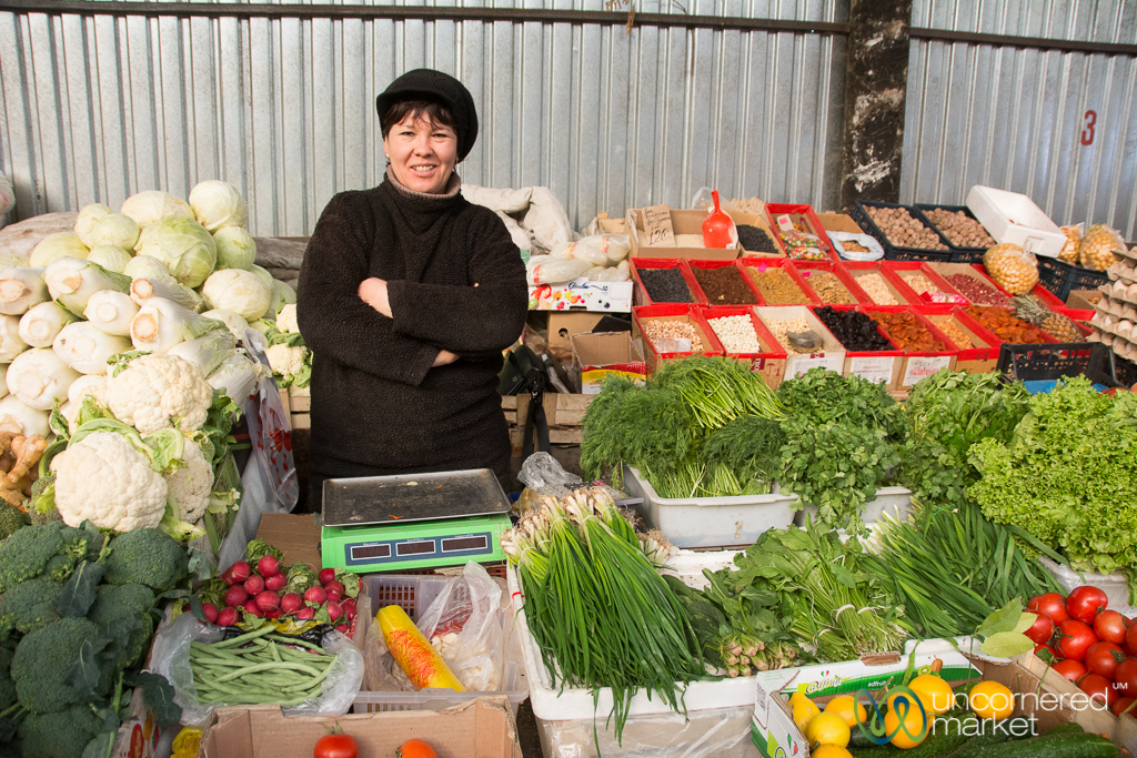 Karakol's Small Bazaar - Overflowing with Vegetables