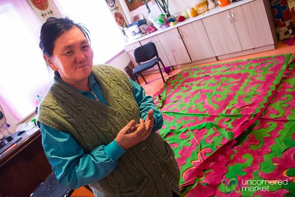 Learning About Kyrgyz Handicrafts at Tolgonai NGO - Karakol, Kyrgyzstan