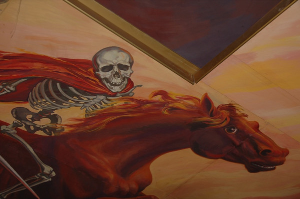 Skeleton, Soviet Mural - Bishkek, Kyrgyzstan