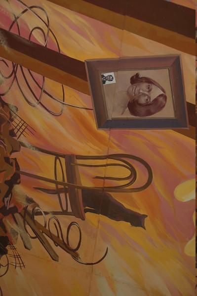 Soviet Mural at History Museum - Bishkek, Kyrgyzstan