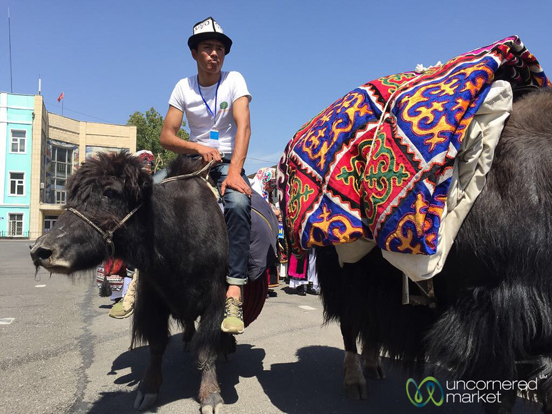 Riding a Yak through Streets of Osh - Kyrgyzstan