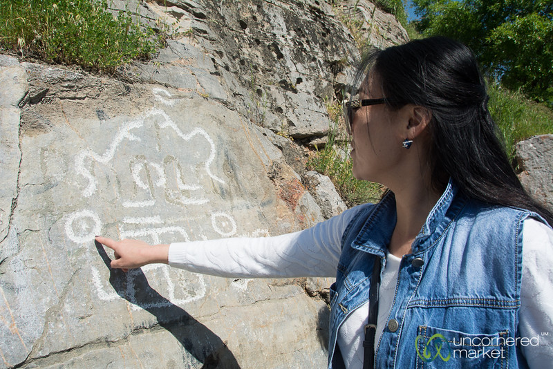 Petroglyphs in Osh, Kyrgyzstan