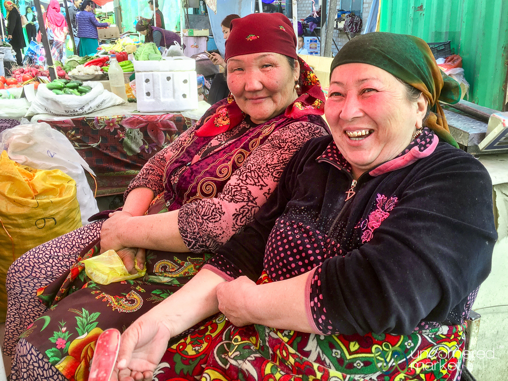 Friendly Vendors at Osh Bazaar - Kyrgyzstan