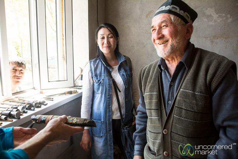 Zakir Jon, the Knife Master of Osh, Kyrgyzstan
